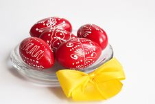 Free Easter Eggs On A Plate Royalty Free Stock Photography - 13821107
