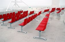 Free Red Modern Chairs Outside Stock Image - 13821231
