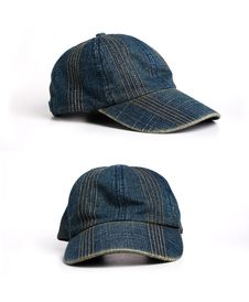 Denim Cap Royalty Free Stock Photos