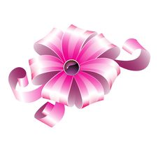 Free Pink Striped Bow Stock Photo - 13821450