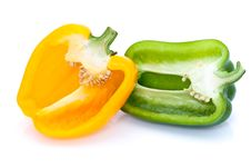 Free Two Cut Peppers Royalty Free Stock Image - 13821706