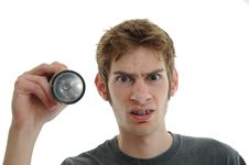 Confused Repairman Royalty Free Stock Photos