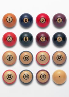 Free Billiard Balls Royalty Free Stock Image - 13822646