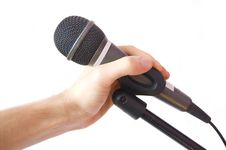 Free Microphone Conceptual Image. Royalty Free Stock Photography - 13823037