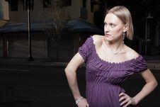 Free Woman In Purple Stock Photo - 13823100