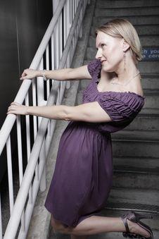 Model In A Purple Dress