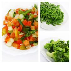 Fresh Frozen Vegetables Royalty Free Stock Images