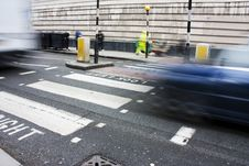 Zebra Crossing Or Pedestrian Crossing Royalty Free Stock Photography