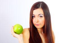 Free Girl Holding Apple Stock Image - 13823651
