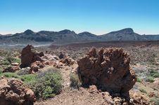 Volcanic Landscape - Mount Teide, Tenerife Royalty Free Stock Photography
