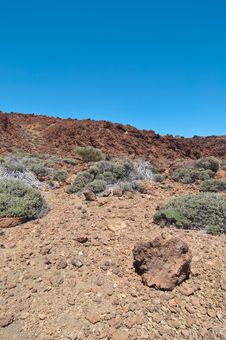 Free Volcanic Landscape - Mount Teide, Tenerife Royalty Free Stock Photo - 13823765