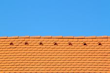 Free Roof With Sky Behind Stock Image - 13824131