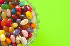 Free Jelly Beans In Glass Dish Royalty Free Stock Image - 13824156