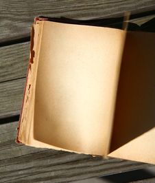 Free Blank Pages Of An Old Book Royalty Free Stock Image - 13824276