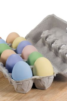 Free Colored Eggs In Carton Stock Photos - 13824423
