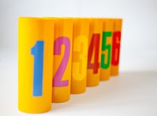 Free Numbered Plastic Pot Royalty Free Stock Images - 13824809