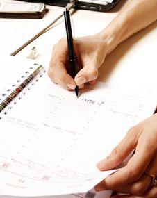Free Businesswoman Writing Stock Photo - 13825050