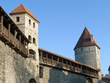 Free Fortification In Medieval Tallinn Stock Photo - 13825500