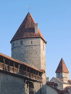 Free Fortification In Medieval Tallinn Royalty Free Stock Image - 13825506