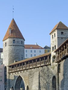Free Fortification In Medieval Tallinn Stock Photography - 13825522