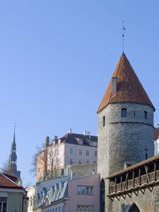 Free Fortification In Medieval Tallinn Stock Images - 13825524