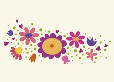 Free Floral Background In Stylish Colors Stock Photography - 13825612