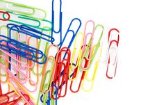 Free Colorful Paper Clips Stock Photos - 13825803
