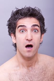 Shocked Or Surprised Facial Expression Stock Photography