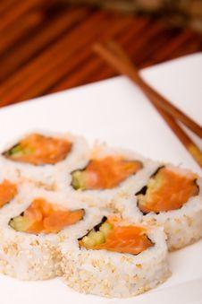 Spicy Tuna Rolls Royalty Free Stock Photos