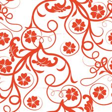 Free Red Flower Seamless Pattern Royalty Free Stock Photo - 13826595