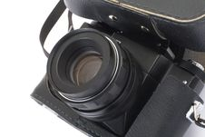 Free Retro Photocamera In A Leather Case. Stock Photos - 13826623
