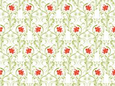 Free Flower Seamless Background Stock Photography - 13826652