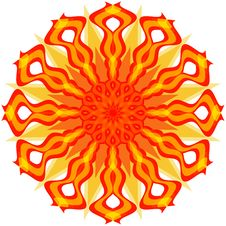 Decorative Sun Royalty Free Stock Image