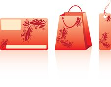 Free Red Shopping Set Stock Photos - 13827623