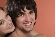 Beautiful Sexy Girl And Boy With Smile
