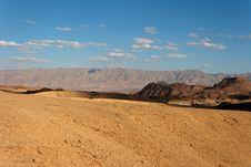 Free Rocky Desert Landscape At Sunset Royalty Free Stock Photos - 13828458