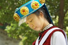 Free Chinese Naxi Woman Stock Photography - 13828782