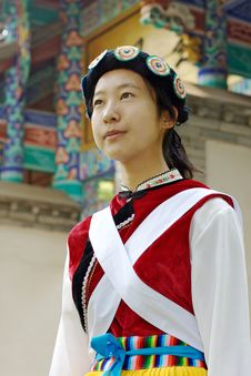 Free Chinese Naxi Woman Royalty Free Stock Image - 13828796