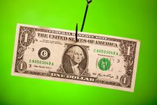 Free Dollar On Hook Royalty Free Stock Photo - 13829075
