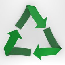 A Stylish Recycle Sign - A 3d Image Royalty Free Stock Images