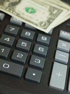 Free Calculator And Momey Stock Images - 13829124