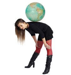 She Is Taking Over The World Royalty Free Stock Image