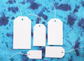 Free White Tags On Blue Royalty Free Stock Image - 13832216