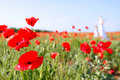 Free Mother And Daughter In Poppy Field Stock Images - 13836084