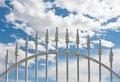 Free White Wrought Iron Gate Royalty Free Stock Photos - 13839398