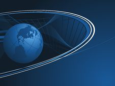 Free Globe With Lines Royalty Free Stock Photo - 13830355