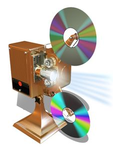 Free Film Projecter Show Move From Cd Disk Stock Image - 13830461