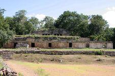 Free Ruins Of A Mexican Maya Palace In Yucatan Royalty Free Stock Image - 13830896