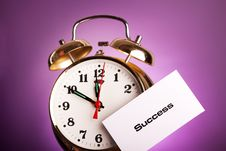 Clock And Note! Royalty Free Stock Image