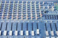 Free Old Dusty Mixer Panel Royalty Free Stock Photos - 13831628
